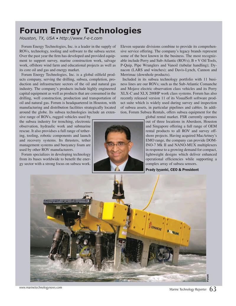 Marine Technology Magazine, page 63,  Jul 2017