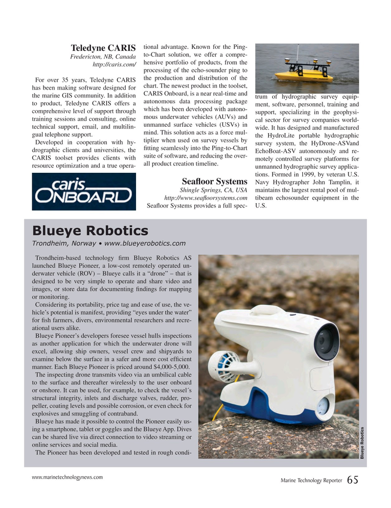 Marine Technology Magazine, page 65,  Jul 2017