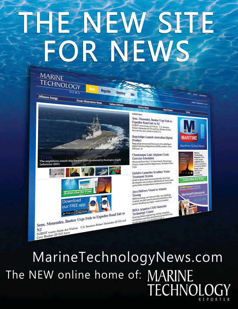 Marine Technology Magazine, page 69,  Jul 2017