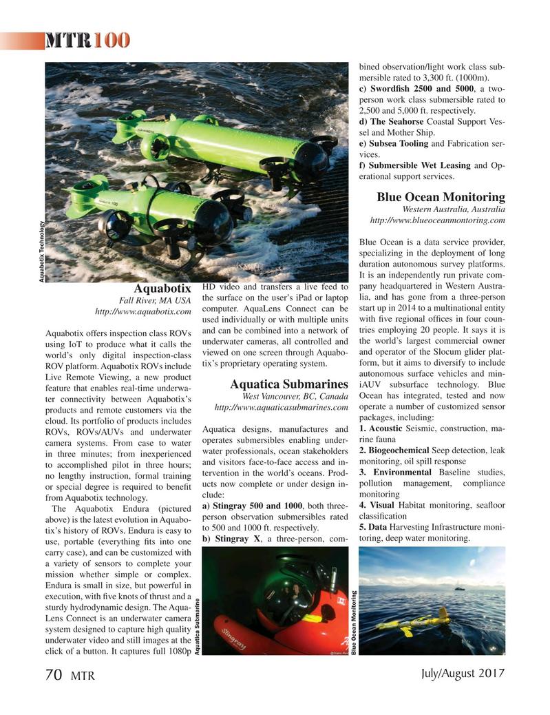 Marine Technology Magazine, page 70,  Jul 2017