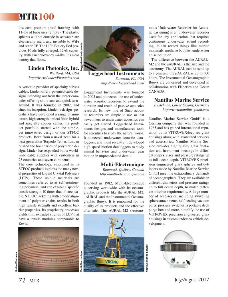 Marine Technology Magazine, page 72,  Jul 2017