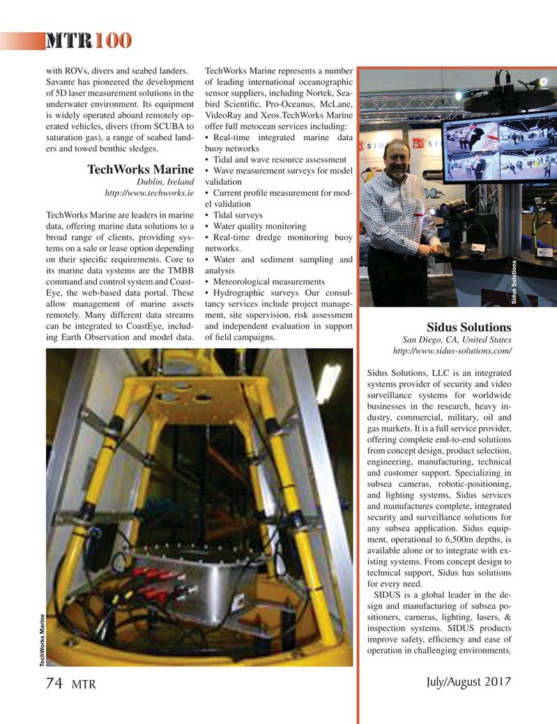Marine Technology Magazine, page 74,  Jul 2017