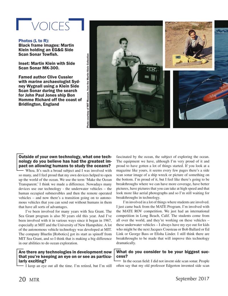 Marine Technology Magazine, page 20,  Sep 2017