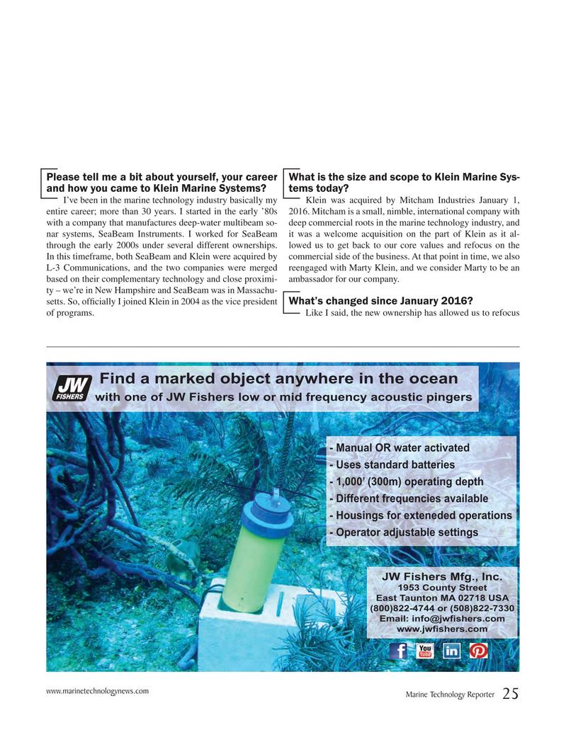 Marine Technology Magazine, page 25,  Sep 2017
