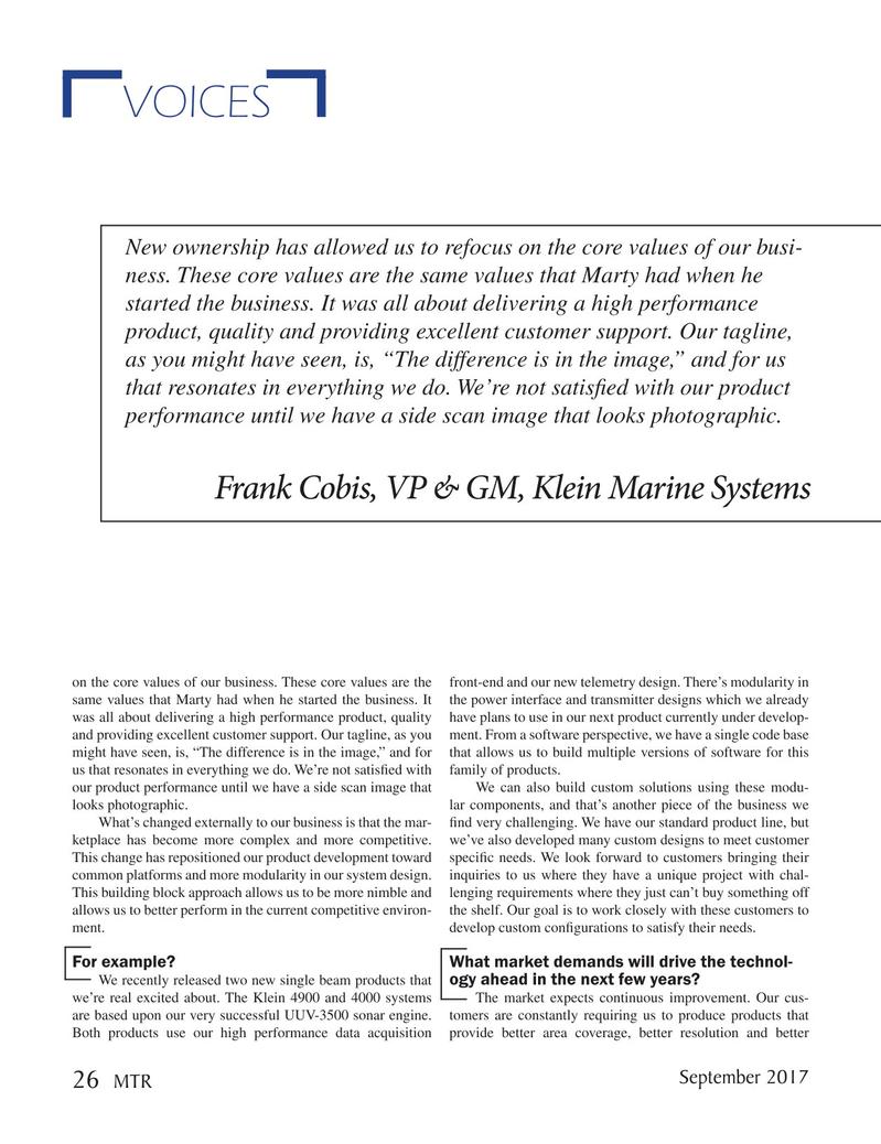 Marine Technology Magazine, page 26,  Sep 2017