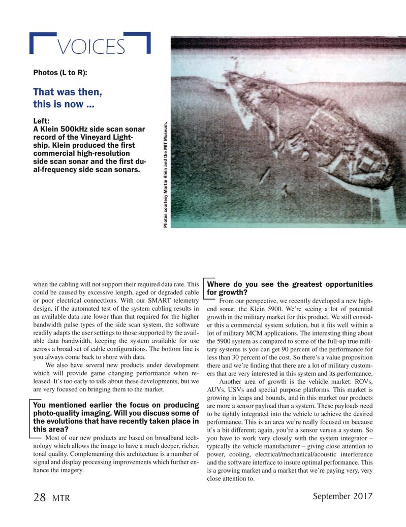 Marine Technology Magazine, page 28,  Sep 2017