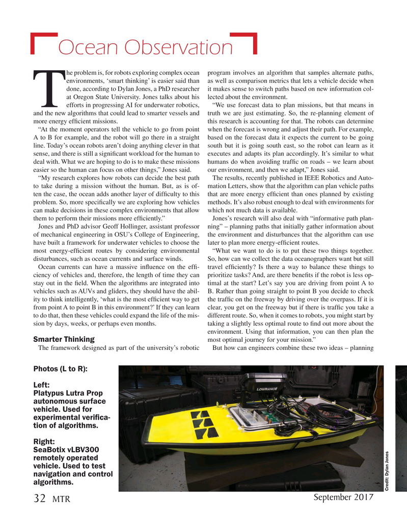 Marine Technology Magazine, page 32,  Sep 2017