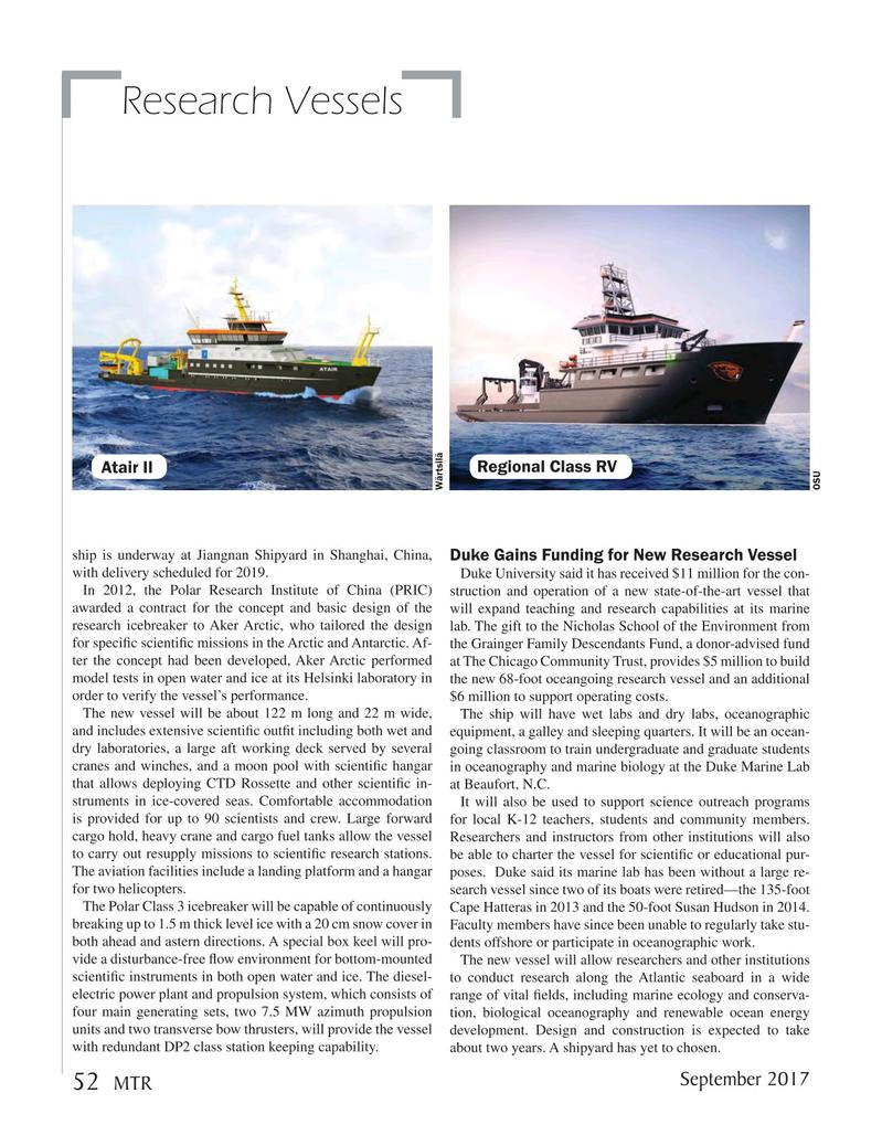 Marine Technology Magazine, page 52,  Sep 2017