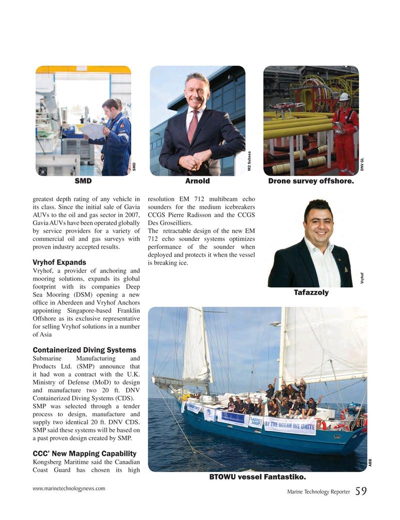 Marine Technology Magazine, page 59,  Sep 2017