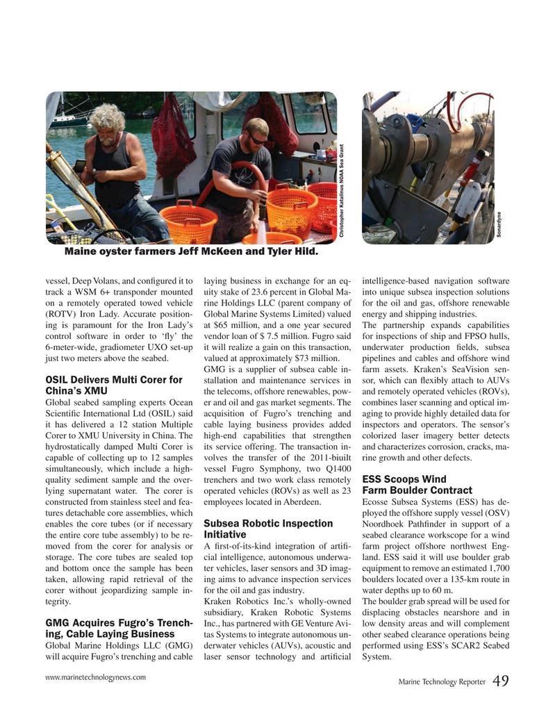 Marine Technology Magazine, page 49,  Nov 2017