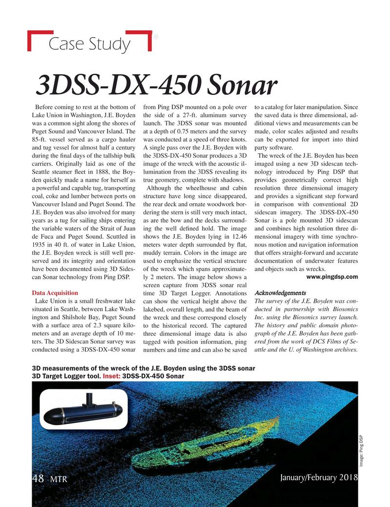 Marine Technology Magazine, page 48,  Jan 2018