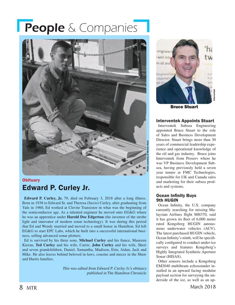 Marine Technology Magazine, page 8,  Mar 2018