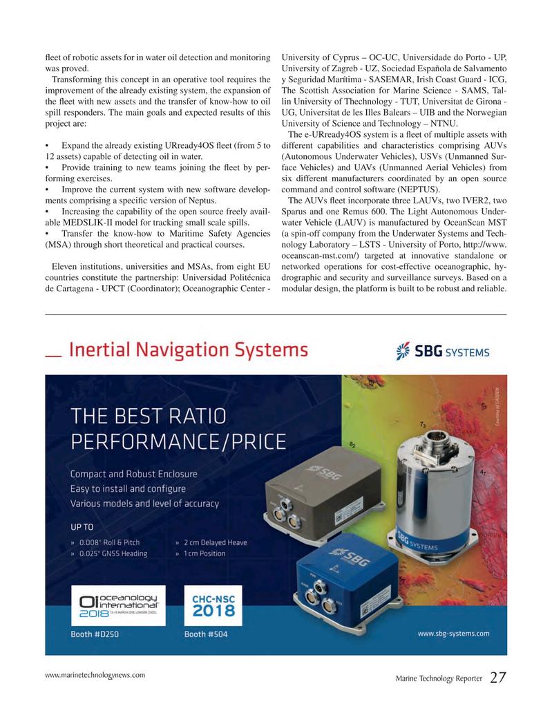 Marine Technology Magazine, page 27,  Mar 2018