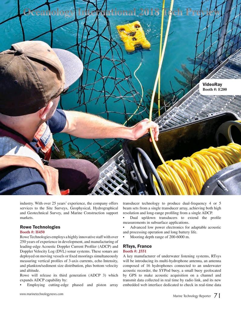 Marine Technology Magazine, page 71,  Mar 2018