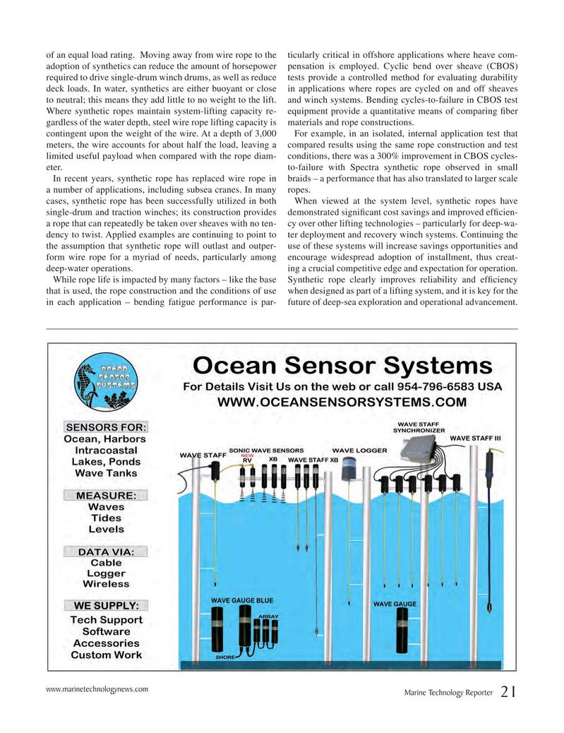 Marine Technology Magazine, page 21,  May 2018