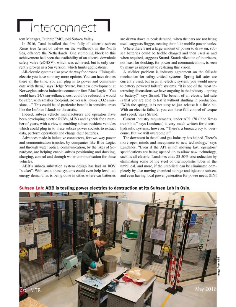Marine Technology Magazine, page 26,  May 2018