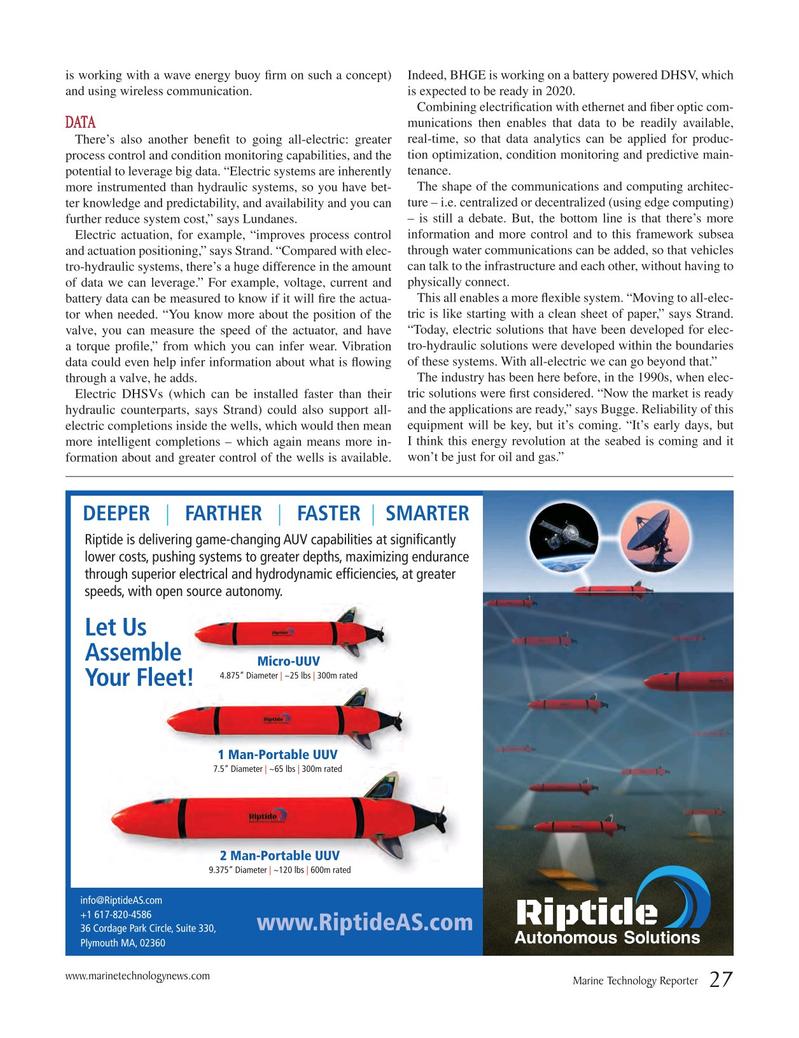 Marine Technology Magazine, page 27,  May 2018