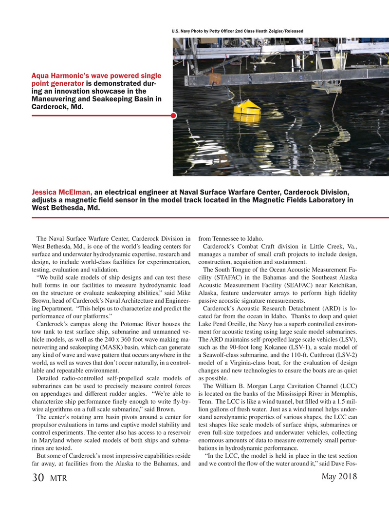 Marine Technology Magazine, page 30,  May 2018