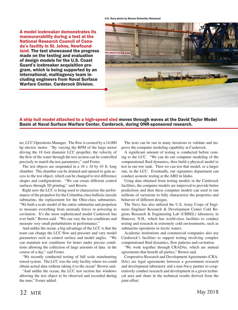 Marine Technology Magazine, page 32,  May 2018
