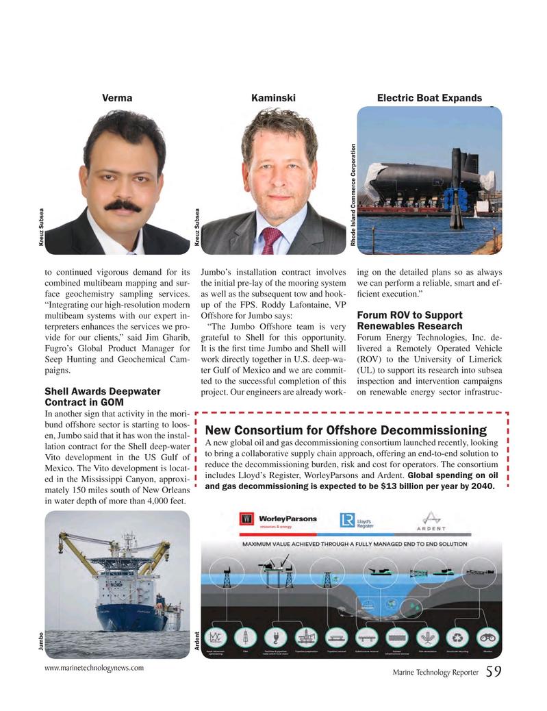 Marine Technology Magazine, page 59,  May 2018