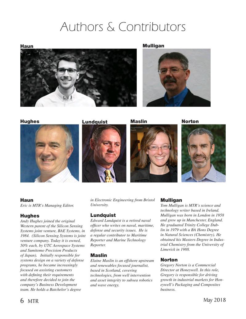 Marine Technology Magazine, page 6,  May 2018