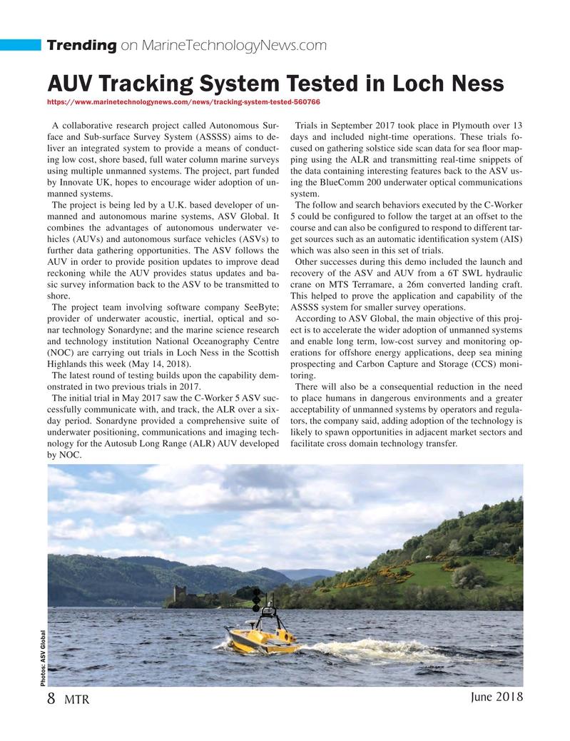 Marine Technology Magazine, page 8,  Jun 2018