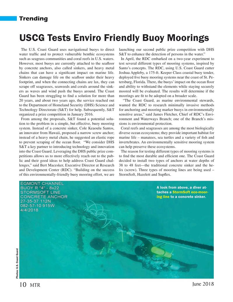 Marine Technology Magazine, page 10,  Jun 2018