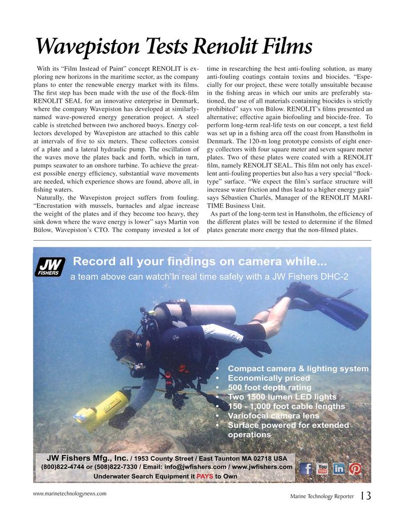 Marine Technology Magazine, page 13,  Jun 2018