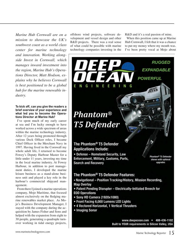 Marine Technology Magazine, page 15,  Jun 2018