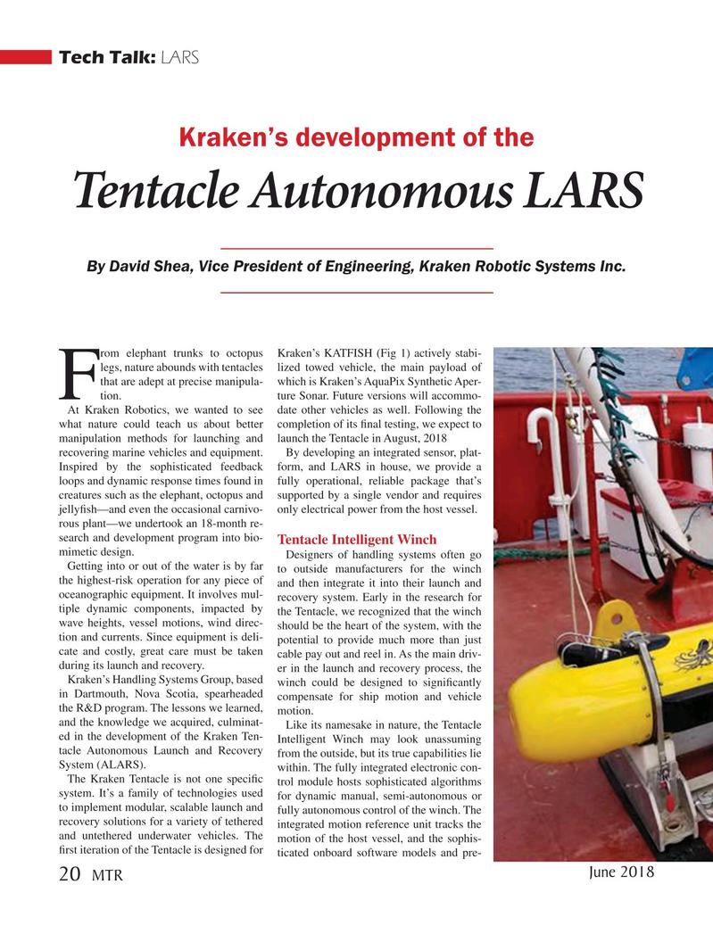Marine Technology Magazine, page 20,  Jun 2018