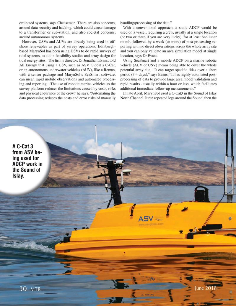 Marine Technology Magazine, page 30,  Jun 2018