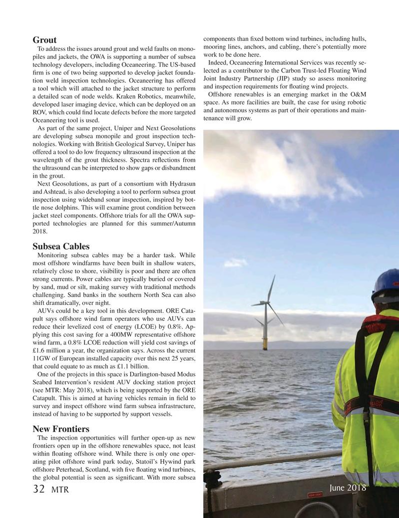Marine Technology Magazine, page 32,  Jun 2018