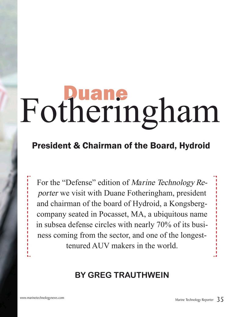 Marine Technology Magazine, page 35,  Jun 2018