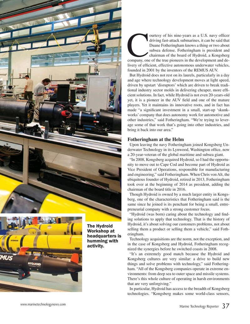 Marine Technology Magazine, page 37,  Jun 2018