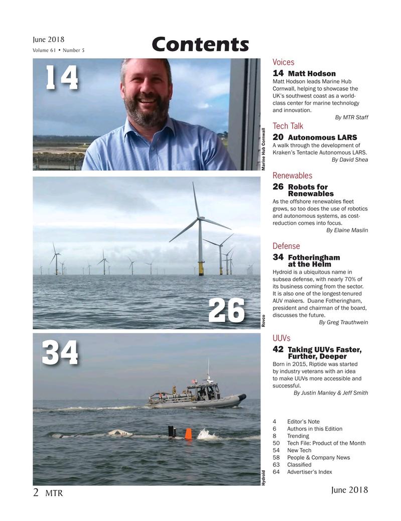Marine Technology Magazine, page 2,  Jun 2018