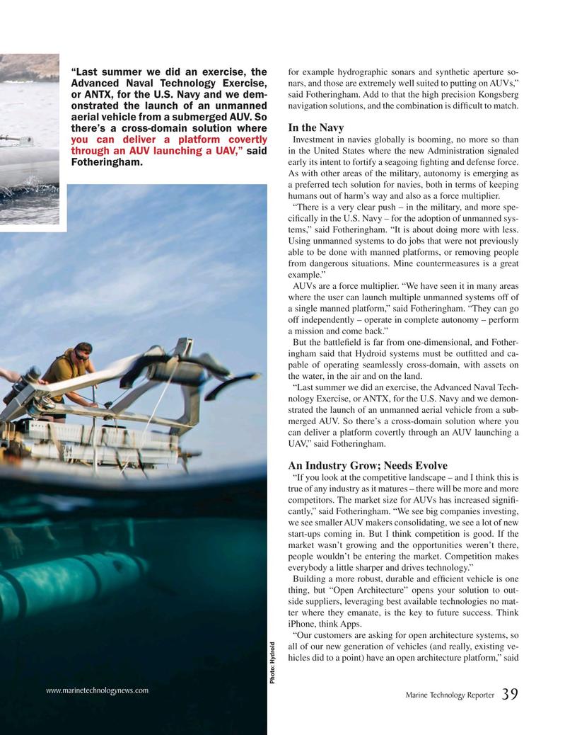 Marine Technology Magazine, page 39,  Jun 2018