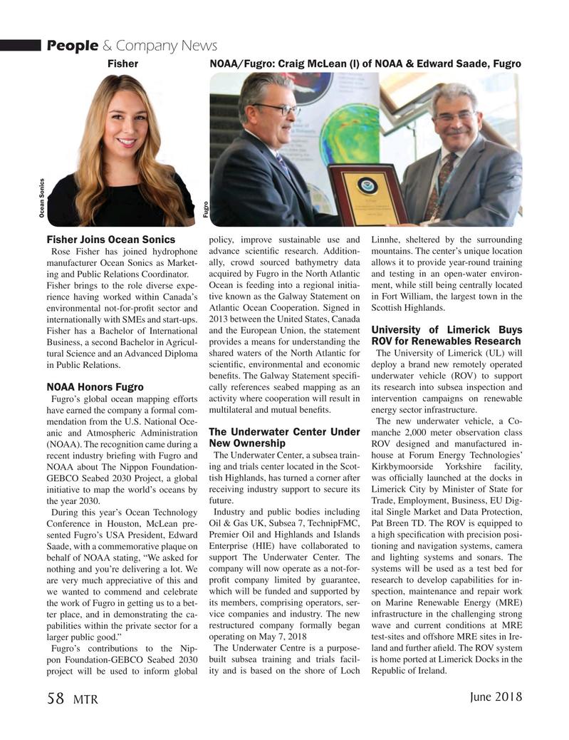 Marine Technology Magazine, page 58,  Jun 2018