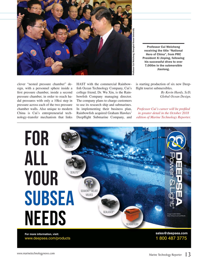 Marine Technology Magazine, page 13,  Jul 2018