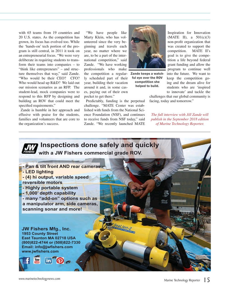 Marine Technology Magazine, page 15,  Jul 2018