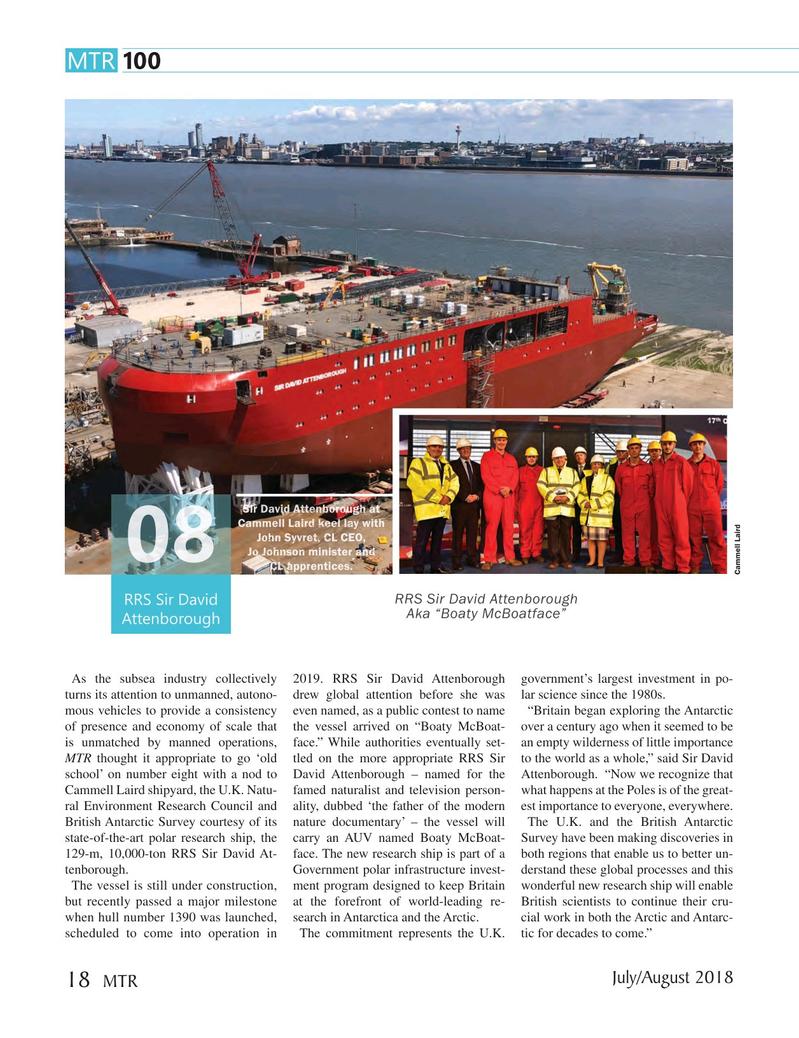 Marine Technology Magazine, page 18,  Jul 2018