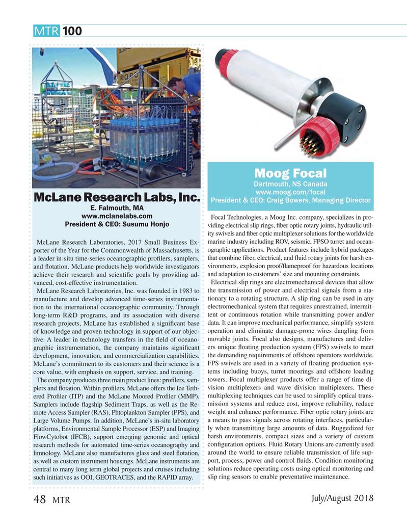 Marine Technology Magazine, page 48,  Jul 2018