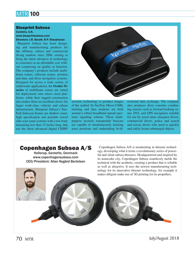 Marine Technology Magazine, page 70,  Jul 2018