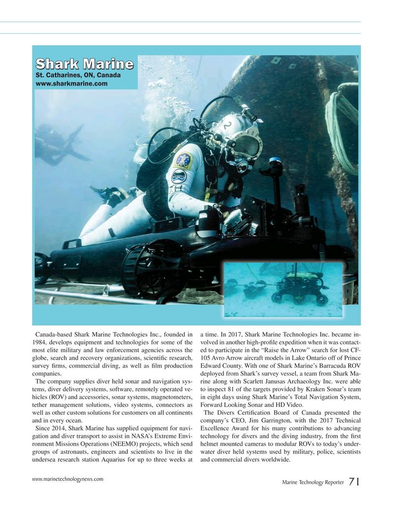 Marine Technology Magazine, page 71,  Jul 2018