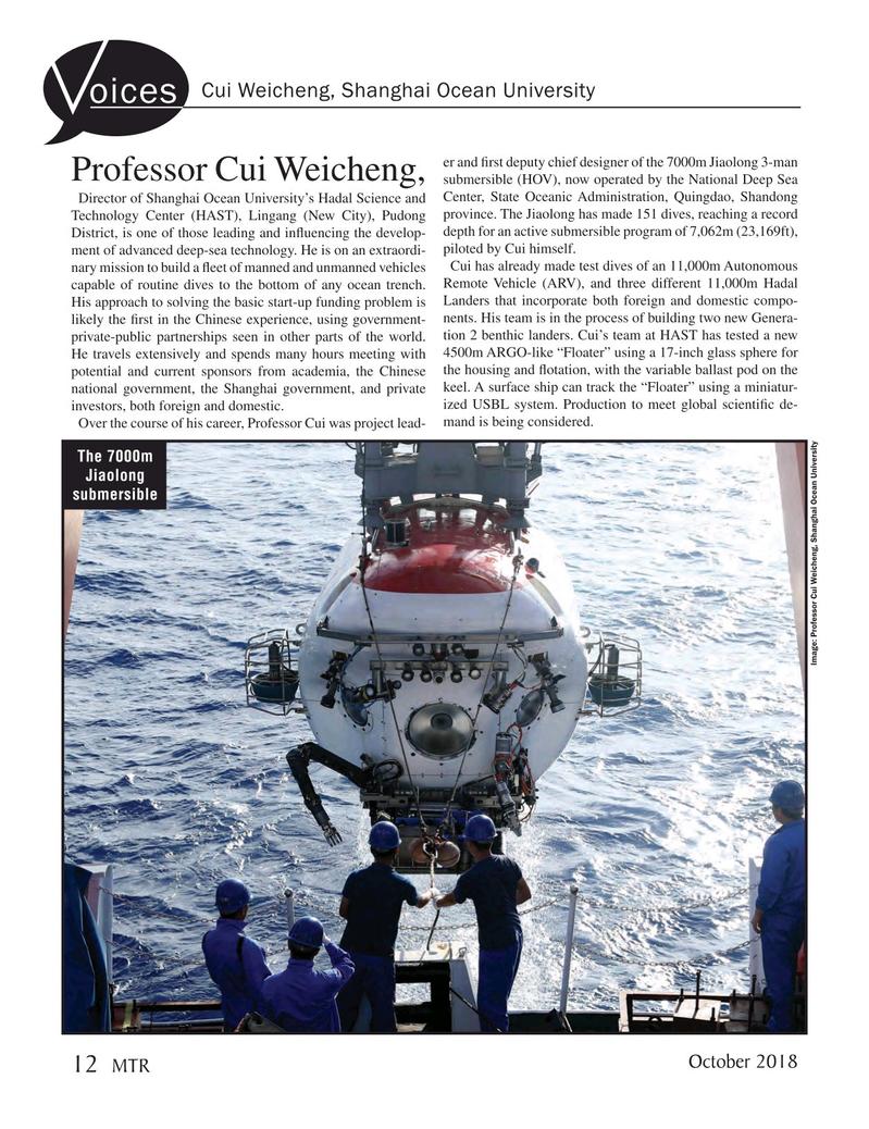 Marine Technology Magazine, page 12,  Oct 2018