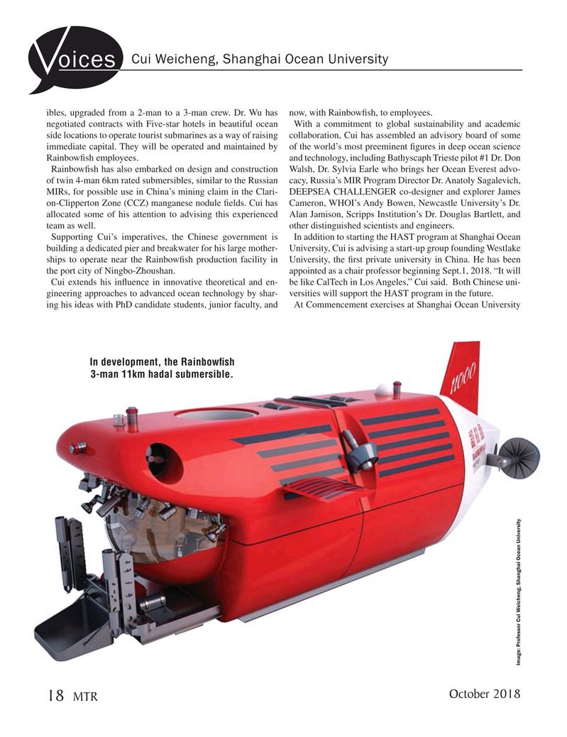 Marine Technology Magazine, page 18,  Oct 2018