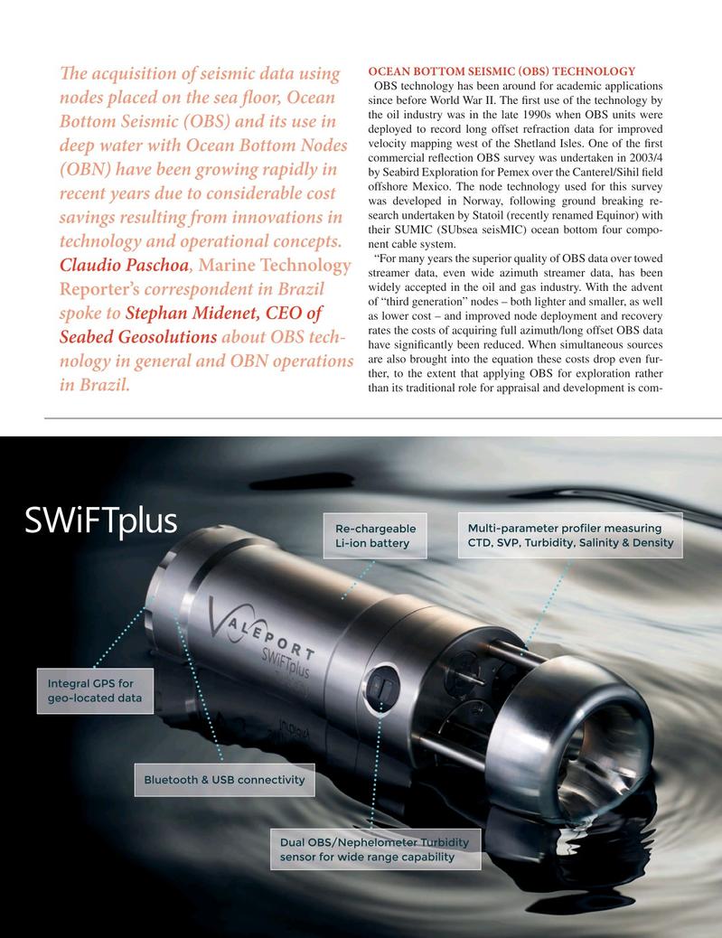Marine Technology Magazine, page 32,  Oct 2018