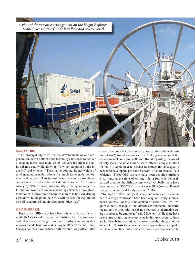 Marine Technology Magazine, page 34,  Oct 2018