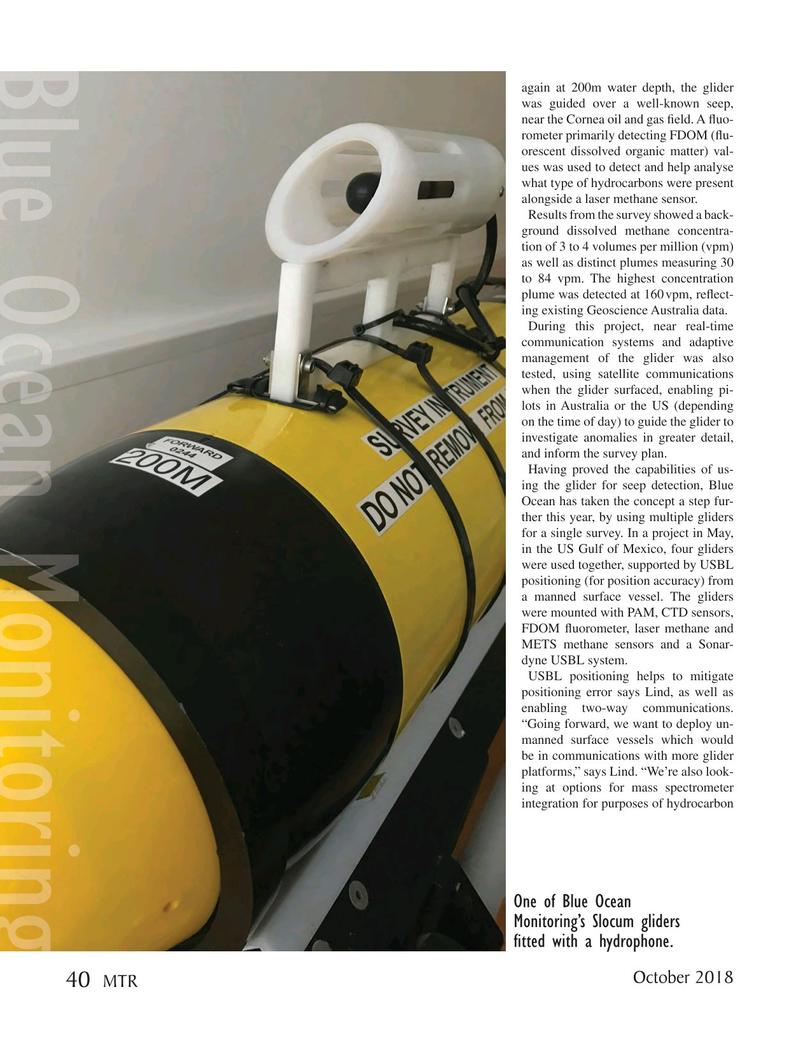 Marine Technology Magazine, page 40,  Oct 2018