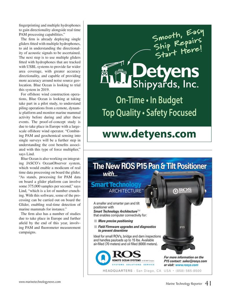 Marine Technology Magazine, page 41,  Oct 2018