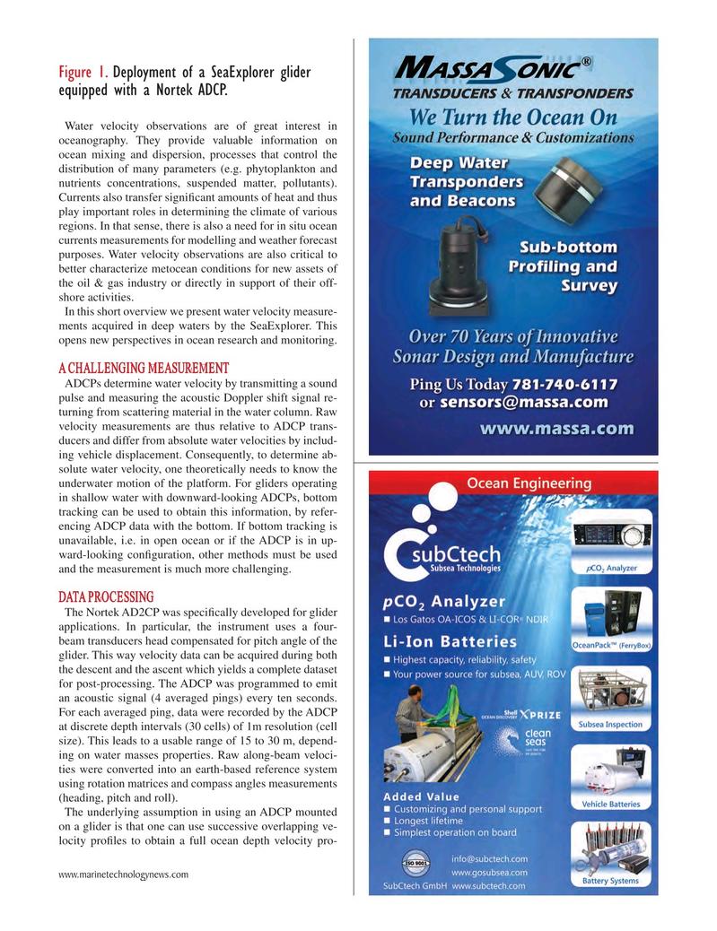 Marine Technology Magazine, page 43,  Oct 2018